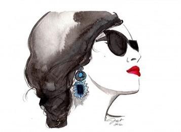 6 Fashion Illustrations We Love | theglitterguide.com | Cool Stuff | Scoop.it