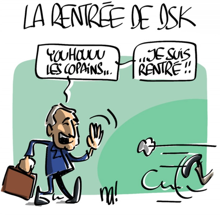 La rentrée de DSK | Baie d'humour | Scoop.it