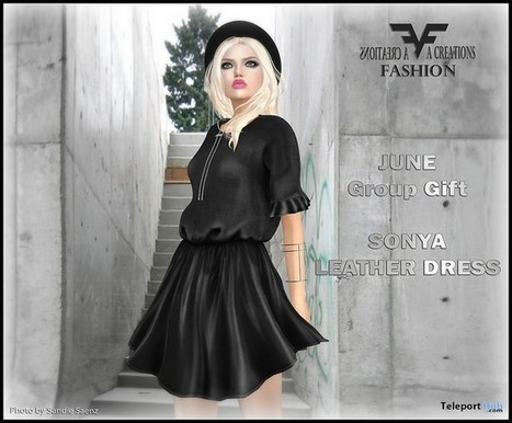 Sonya Leather Dress June 2016 Group Gift by FA CREATIONS | Teleport Hub - Second Life Freebies | Second Life Freebies | Scoop.it