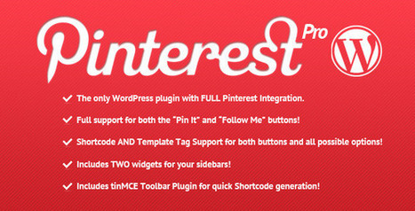 20 Best Free and Premium Pinterest Wordpress Plugin - Smashfreakz | Wordpress | Scoop.it