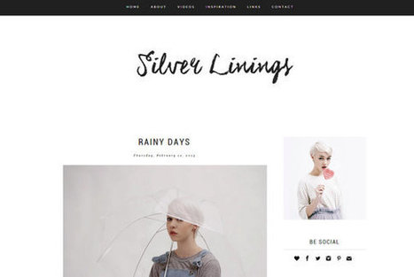 Silver Linings Blogger Theme | Blogger themes | Scoop.it