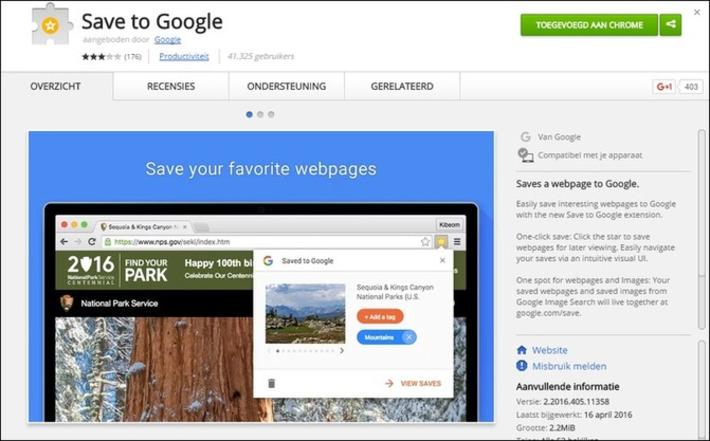 Edu-Curator: 'Save to Google': sla je favoriete websites en afbeeldingen op bij Google (Chrome extensie) | Edu-Curator | Scoop.it