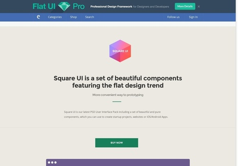 25+ flat UI kits for web designers | Infographies | Scoop.it