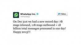 WhatsApp processes an impressive 18B messages on New Year's Eve | MobileandSocial | Scoop.it