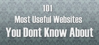 The Amazing Stuff: 101 Most Useful Websites You Dont Know About   Haute Culture Internet   Scoop.it