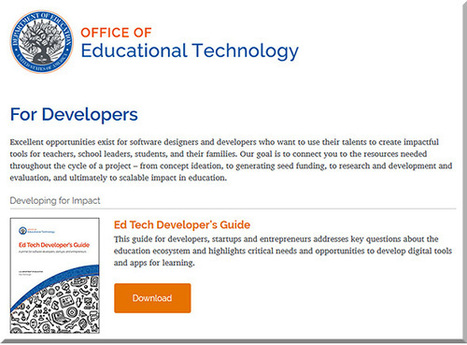 After 2 years of research, the U.S. Dept of Education introduces a new Ed Tech Developer's Guide | Veille e-learning | Scoop.it