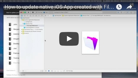 How to update native iOS App created with FileMaker iOS App SDK? | All things Filemaker  Go | Scoop.it