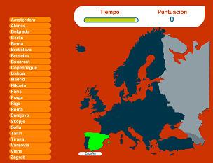 Capitales de Europa - Juego | GeoTic | Scoop.it