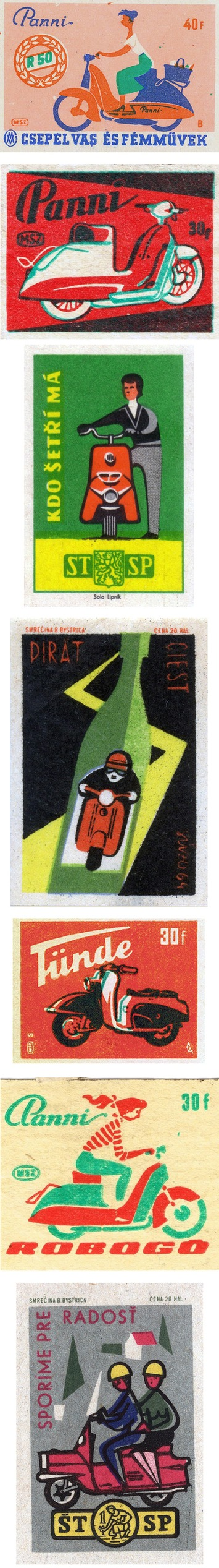 A Rare Bit O'Swag: Vintage Scooter Matchbook Covers | Kitsch | Scoop.it