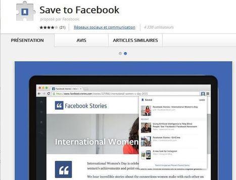 Facebook lance 2 extensions Chrome pour Sauvegarder et Partager sur le Web | Smartphones et réseaux sociaux | Scoop.it