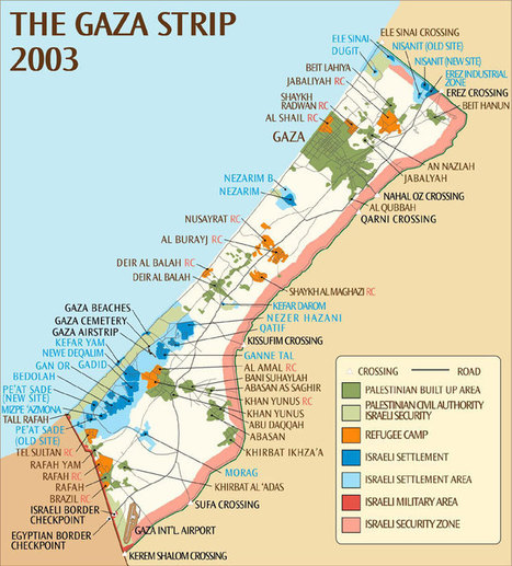 Comprendre la géographie de Gaza en une carte | Archivance - Miscellanées | Scoop.it