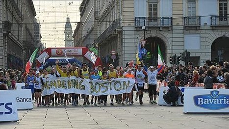 Turin Marathon Runners Offer Tribute ToBoston - CBS Boston | Uplifting | Scoop.it