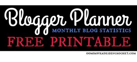 Free Printable - Monthly Blog Statistics Tracking Form - Blogger Planner • Oombawka Design Crochet | Blogging & Social Media | Scoop.it