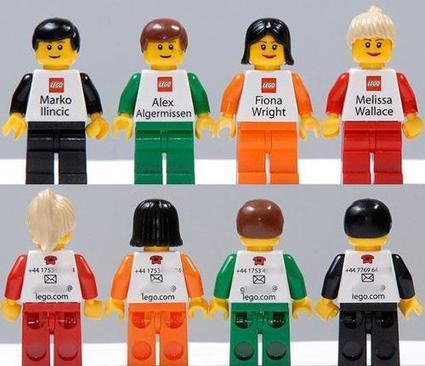 LEGO Business Cards | Internal Comms. Engaging people @ work | Scoop.it