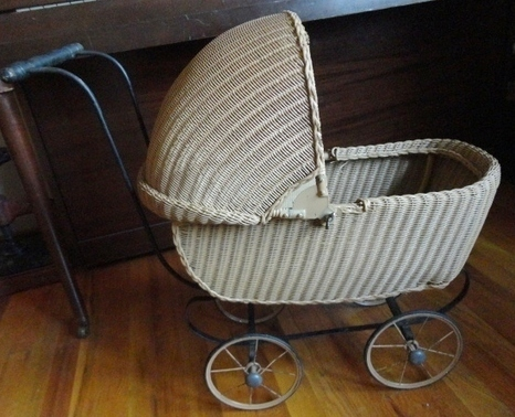 Adorable South Bend Toy Company Victorian Wicker Doll Stroller - The Vintage Village | Vintage Passion | Scoop.it