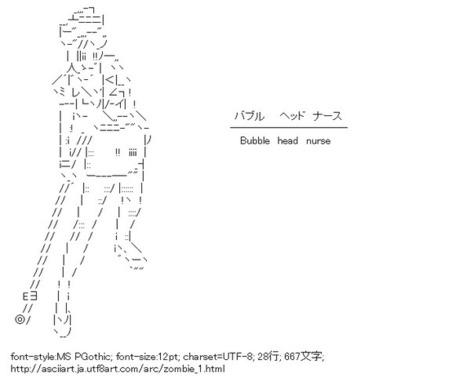 バブルヘッドナース(サイレントヒル) | ASCII Art | Scoop.it