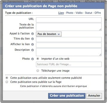 Publication Facebook : Ajouter un Bouton Call-to-Action | coaching | Scoop.it