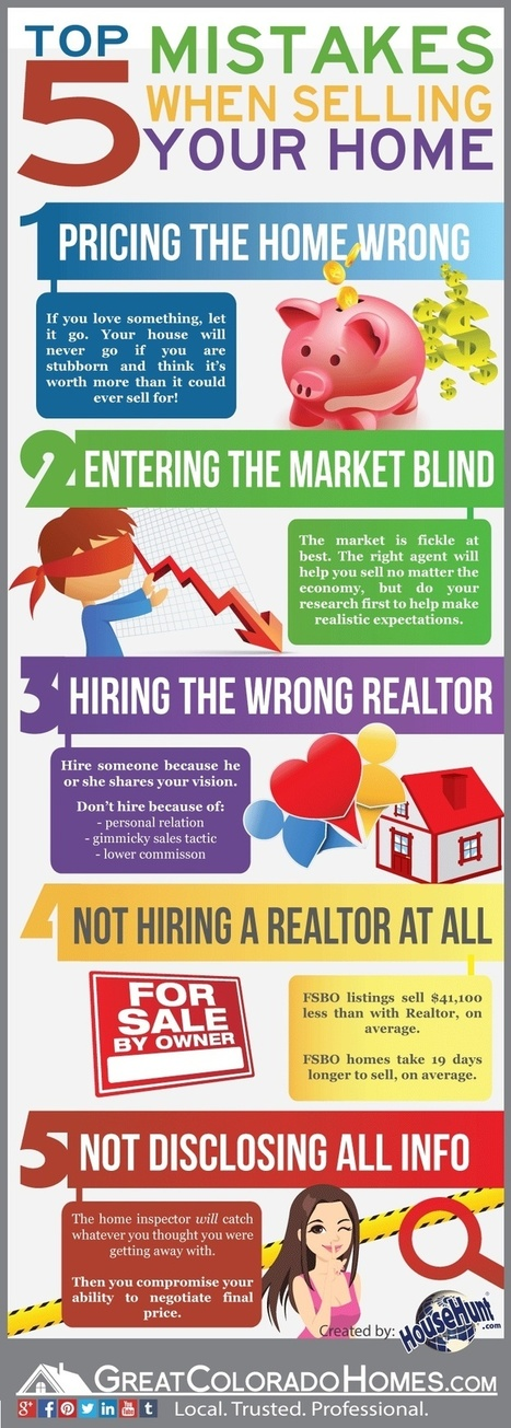 Top 5 Mistakes When Selling Your Home | Real Estate Topics | Scoop.it