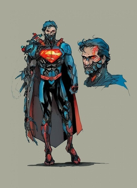DC Unveils CYBORG SUPERMAN Design Sketches   Cybofree : Techno Social Issues for a Postmodern Transhuman Society   Scoop.it