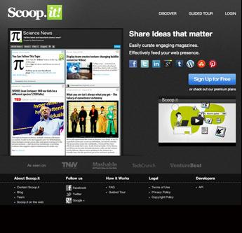 Scoop.it、Netvibes ~キュレーションで頼りになるデジタルツールたち   Curation Service List   Scoop.it
