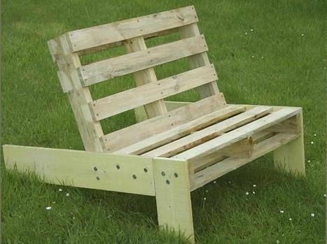 Fabriquer un fauteuil de jardin en palette avec for Fabriquer un fauteuil de jardin