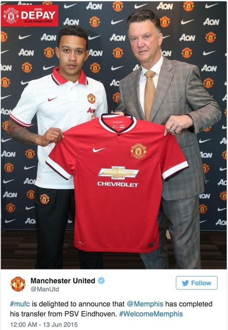 Manchester United complete transfer of Memphis Depay for reported £31m - Fantasy Premier League Tips | Fantasy Premier League 2014-15 | Scoop.it