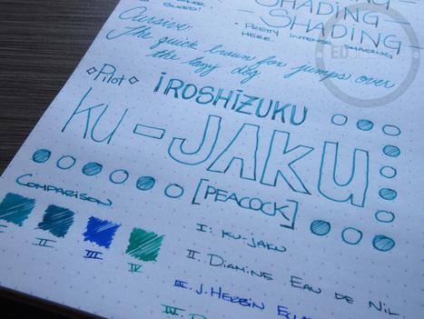 Pilot Iroshizuku Ku-Jaku - Handwritten Ink Review   Writing instruments   Scoop.it