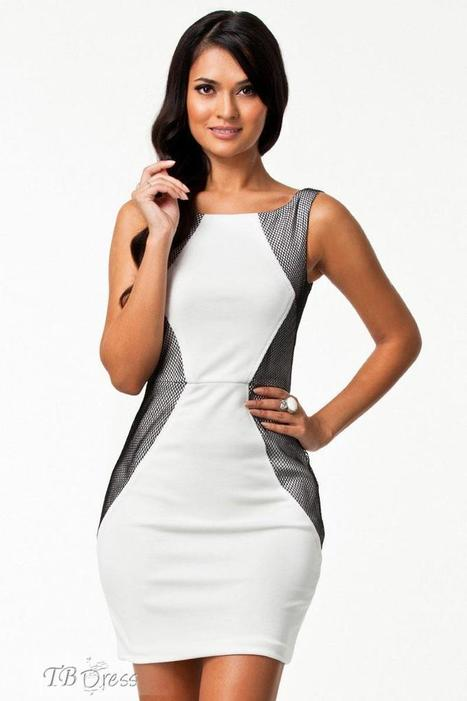 Elegant White Vintage with Mesh Dress   women fashion&clothing   Scoop.it