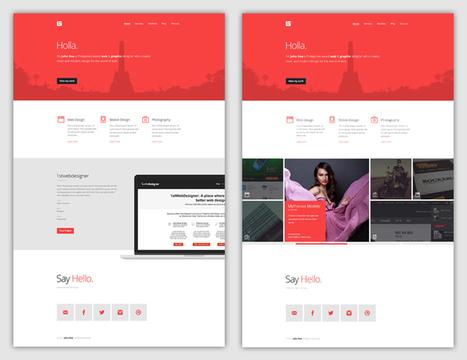 Flat Web Design Tutorial - Portfolio Landing Page [FREE Download] • 1stwebdesigner   Creative Designer, and Web Developer   Scoop.it