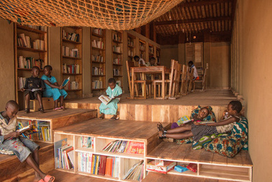 Children's library in Africa with rammed earth walls by BC Architects | SocialLibrary | Scoop.it