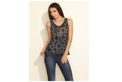 ESPRIT Patchwork Print Tank Top, black, l at Rs. 899 ~ 50% off | Daily Deal & Coupons: MagicDeal.in | Scoop.it