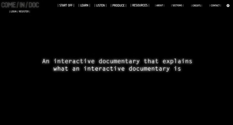 COME/IN/DOC – Start off | Webdoc - Outils & création | Scoop.it