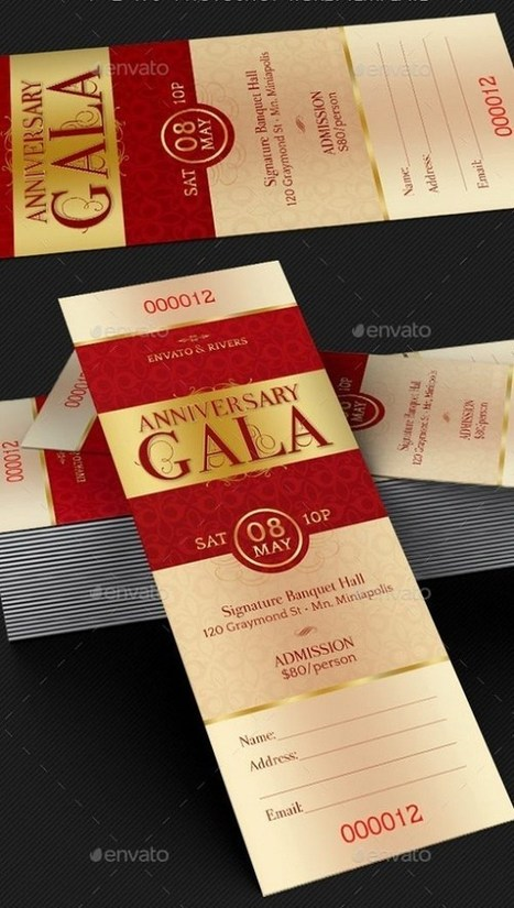 Best Printable Event Ticket Templates in DOC, PSD Formats | Templates | Scoop.it