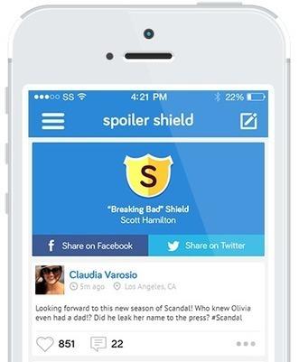Spoiler Shield App - Block Sports & TV Spoilers on Social Media | Sports Broadcasting: Stutz, H. | Scoop.it