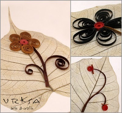 Pipal Leaf Handmade Greeting Card | Crafting and Crafts | Scoop.it