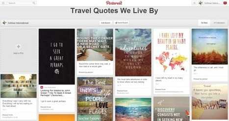 Pinterest's New Promoted Pins Add Value for Tourism Marketing | Tourism Social Media | Scoop.it