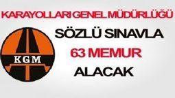 Karayolları Genel Müdürlüğü Sözlü Sınavla 63 Memur Alacak | memurlar | Scoop.it