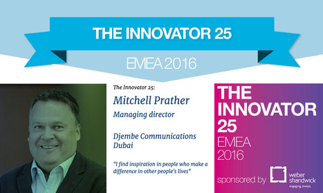 Mitchell Prather MD Djembe - Dubai in Innovator25 EMEA  | CorpComm | Scoop.it
