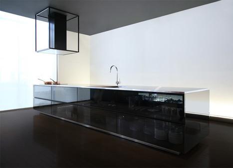 "Tokujin Yoshioka designs glass kitchen ""to show the beauty of kitchen tools"" - Dezeen | Kuche Design | Scoop.it"