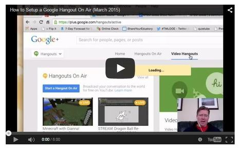 How to Setup a Google Hangout On Air (March 2015) - Moving at the Speed of Creativity | Teaching ESL and Learning | Scoop.it