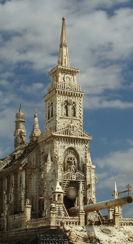 Meticulously Detailed Sculptures of Churches as Tanks - My Modern Metropolis | Le It e Amo ✪ | Scoop.it