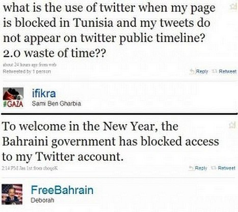 Tunisia and Bahrain Block Individual Twitter Pages by Jillian C. York | Twit4D | Scoop.it
