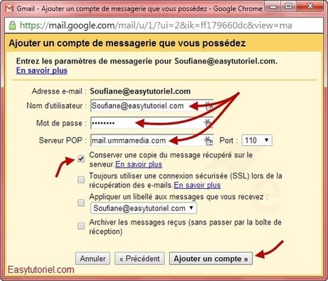 Comment rediriger vos mails vers Gmail (POP3) ! | Easytutoriel.com | netnavig | Scoop.it