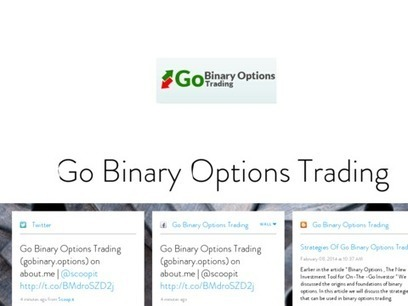 Go Binary Options Trading | Binary options trading | Scoop.it