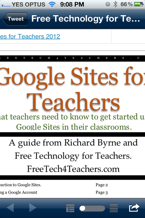 Free Technology for Teachers: 47 Page Guide to Google Sites for Teachers | GSHP eLearning | Scoop.it
