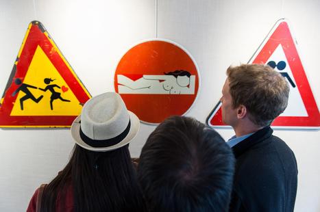 Clet Abraham : le street art tombe dans le panneau | Bouche à Oreille | Scoop.it
