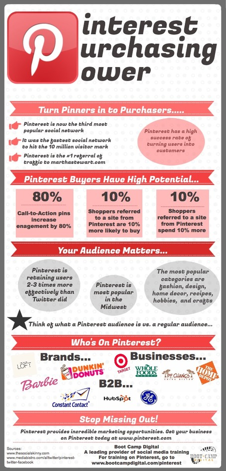Pinterest Purchasing Power Infographic | Social Media and the economy | Scoop.it