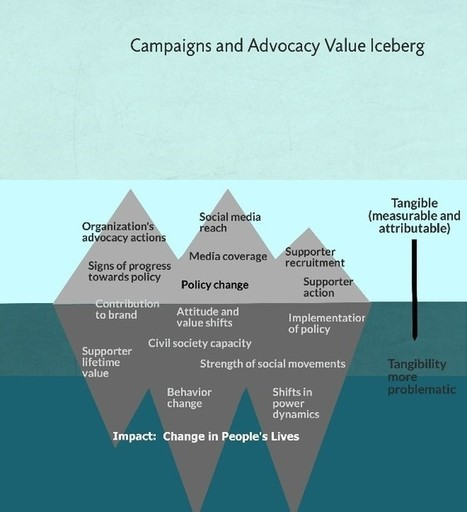 New resource: the value iceberg: weighing the benefits of advocacy and campaigning | Monitoring capacity development | Scoop.it