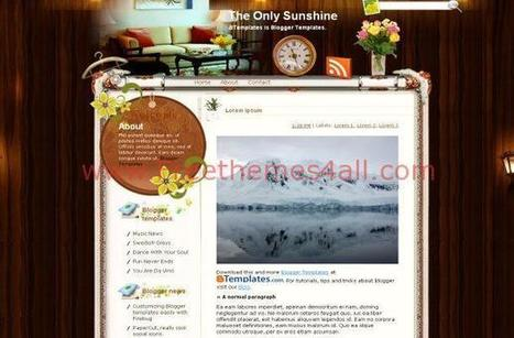 Wooden Floral Free Blogger Theme | Blogger themes | Scoop.it