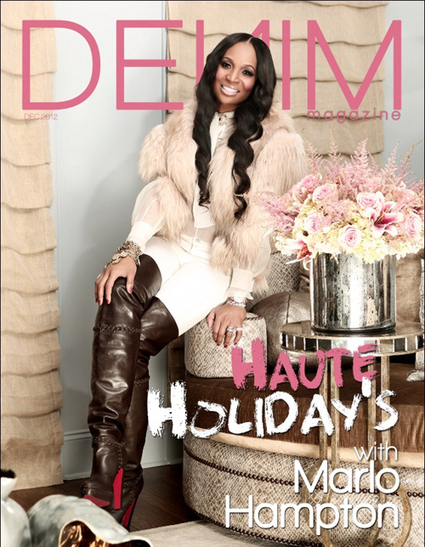 Marlo Hampton for Denim Magazine's Holiday Issue! | Photos | Best of the Los Angeles Fashion | Scoop.it